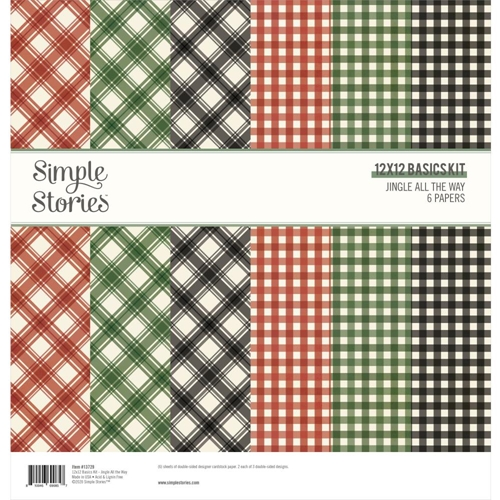 Simple Stories JINGLE ALL THE WAY 12 x 12 Basics Kit 13729 Preview Image