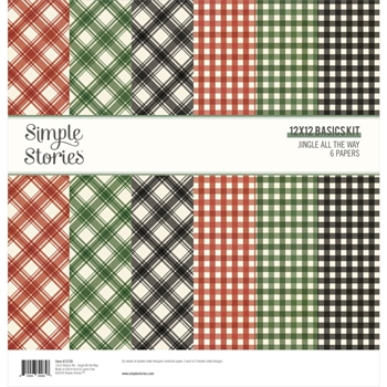 Simple Stories JINGLE ALL THE WAY 12 x 12 Basics Kit 13729