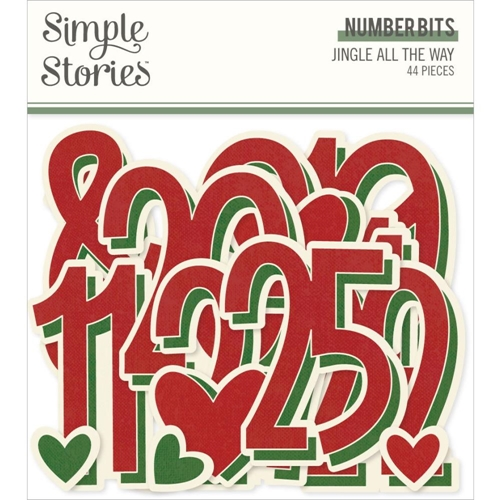Simple Stories JINGLE ALL THE WAY Number Bits 13734 Preview Image