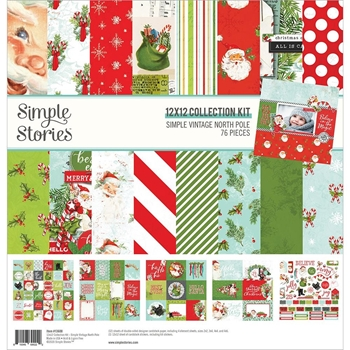 Simple Stories VINTAGE NORTH POLE 12 x 12 Collection Kit 13600
