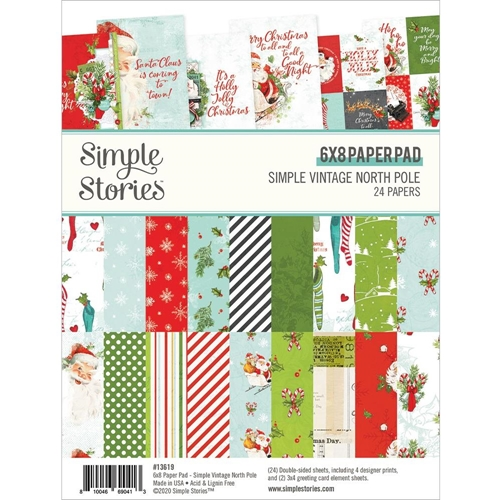 Simple Stories VINTAGE NORTH POLE 6 x 8 Paper Pad 13619 Preview Image
