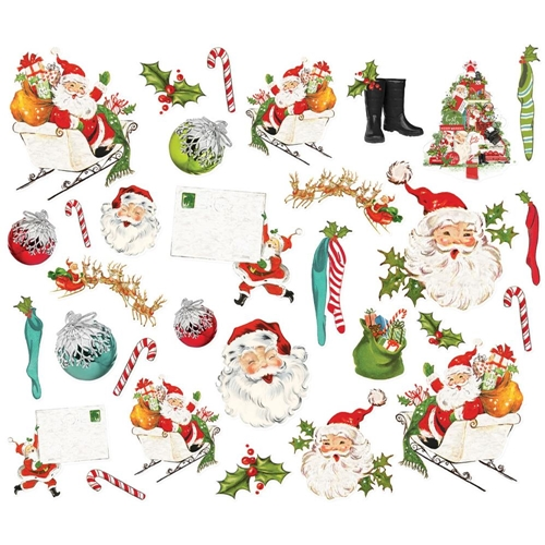 Simple Stories VINTAGE NORTH POLE SANTA Bits And Pieces 13622 Preview Image