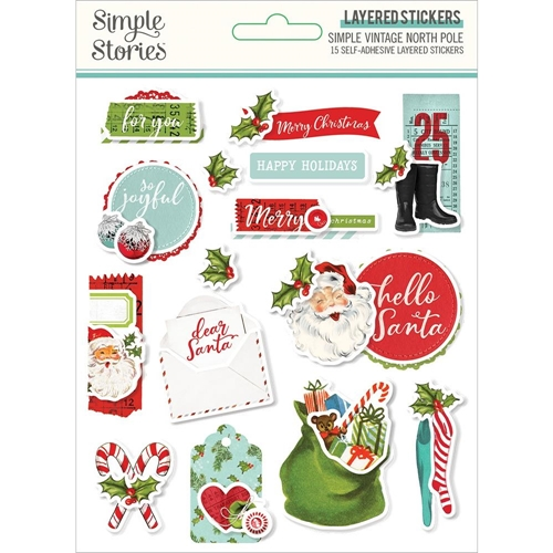 Simple Stories VINTAGE NORTH POLE Layered Stickers 13627 Preview Image