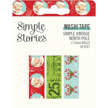 Simple Stories VINTAGE NORTH POLE Washi Tape 13630