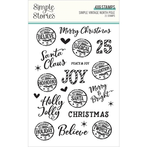 Simple Stories VINTAGE NORTH POLE Clear Stamp Set 13631 Preview Image