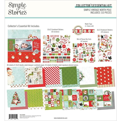 Simple Stories VINTAGE NORTH POLE 12 x 12 Collector's Essential Kit 13633 Preview Image
