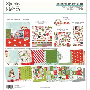 Simple Stories VINTAGE NORTH POLE 12 x 12 Collector's Essential Kit 13633