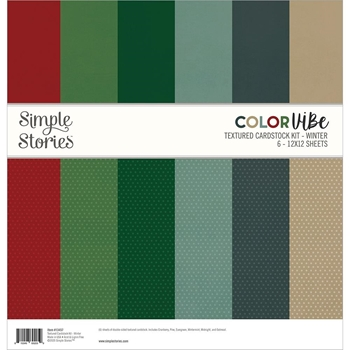 Simple Stories WINTER 12 x 12 Color Vibe Paper Pack 13457