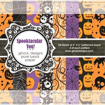 Gina K Designs SPOOKTACULAR YOU 6x6 Inch Patterned Paper Pack 8608