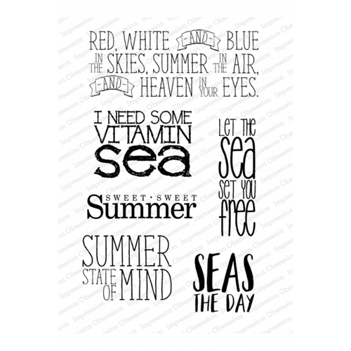 Impression Obsession Clear Stamp VITAMIN SEA CL1026* Preview Image