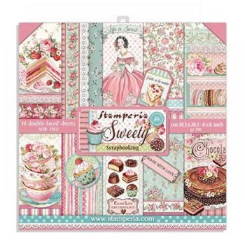 Stamperia SWEETY 8x8 Paper sbbs21