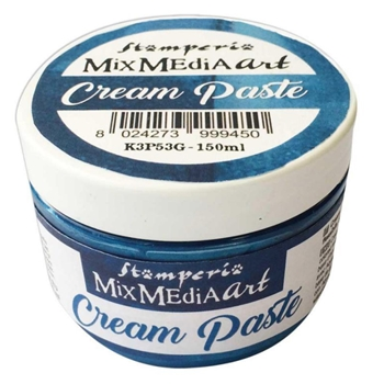 Stamperia METALLIC BLUE CREAM PASTE k3p53g