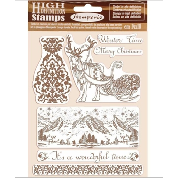 Stamperia WINTER TIME Cling Stamps wtkcc169
