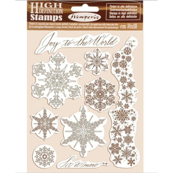Stamperia SNOWFLAKES Cling Stamps wtkcc167