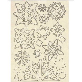 Stamperia SNOWFLAKES Wooden Shapes klsp084