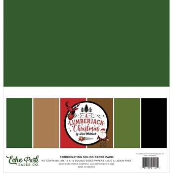 Echo Park A LUMBERJACK CHRISTMAS 12 x 12 Solids Paper Pack alc220015