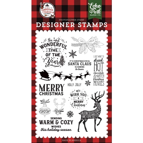 Echo Park WARM AND COZY WISHES Clear Stamps alc220044* Preview Image