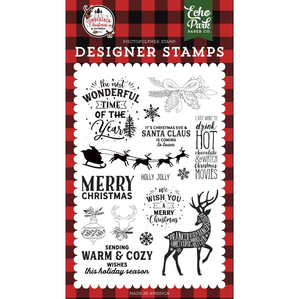 Echo Park WARM AND COZY WISHES Clear Stamps alc220044* zoom image