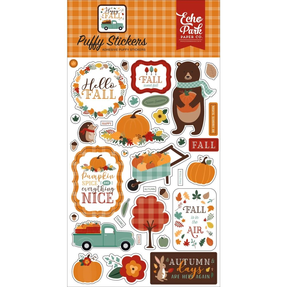 Echo Park HAPPY FALL Puffy Stickers hap219066 zoom image