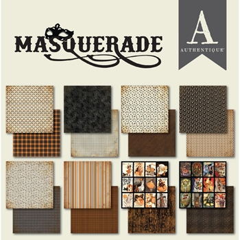 Authentique MASQUERADE 6 x 6 Paper Pad mqr010