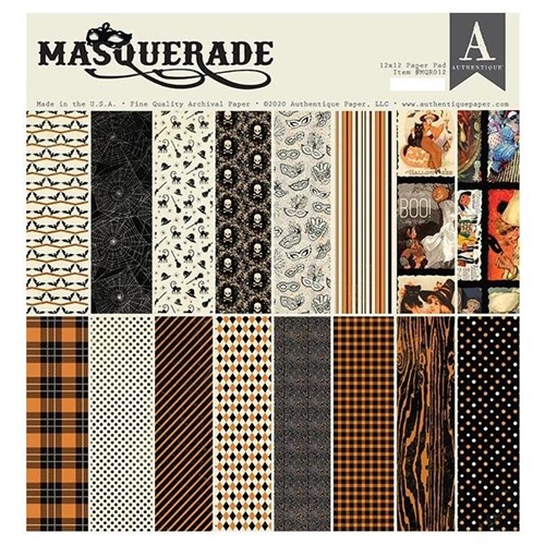 Authentique MASQUERADE 12 x 12 Paper Pad mqr012 Preview Image