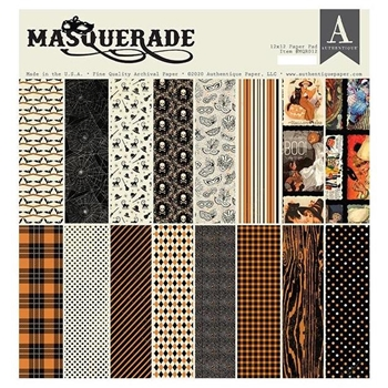 Authentique MASQUERADE 12 x 12 Paper Pad mqr012