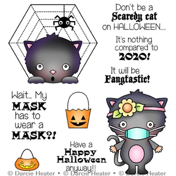 Darcie's SCARY HALLOWEEN Clear Stamp Set pol467