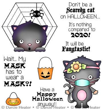Darcie's SCARY HALLOWEEN Clear Stamp Set pol467 zoom image