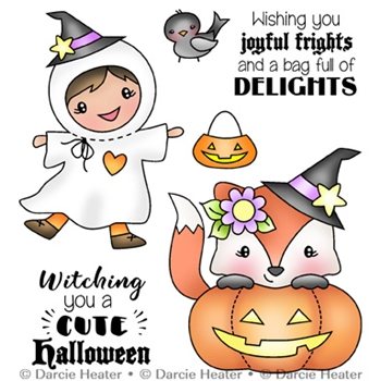 Darcie's JOYFUL FRIGHT Clear Stamp Set pol468