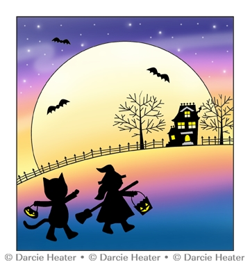 Darcie's IN THE MOONLIGHT Clear Stamp Set pol470 Preview Image