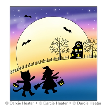 Darcie's IN THE MOONLIGHT Clear Stamp Set pol470