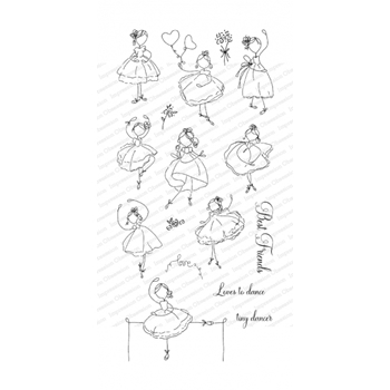 Impression Obsession Clear Stamps BALLET BEAUTIES WP1035*
