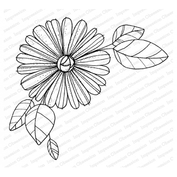 Impression Obsession Cling Stamp DAISY CORNER L12226