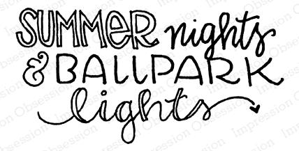 Impression Obsession Cling Stamp SUMMER NIGHTS D12233 Preview Image