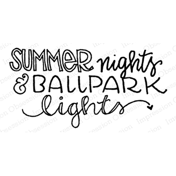 Impression Obsession Cling Stamp SUMMER NIGHTS D12233