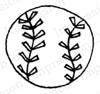 Impression Obsession Cling Stamp BALL A12227