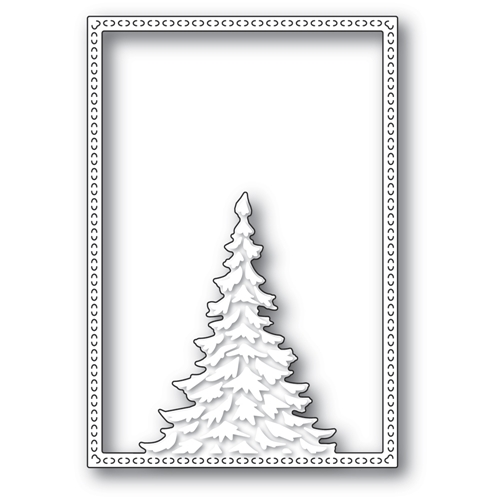 Memory Box SINGLE PINE TREE FRAME Craft Die 94479 Preview Image