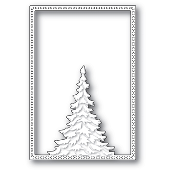 Memory Box SINGLE PINE TREE FRAME Craft Die 94479