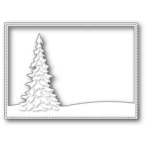 Memory Box SINGLE PINE LANDSCAPE FRAME Craft Die 94480 Preview Image