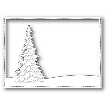 Memory Box SINGLE PINE LANDSCAPE FRAME Craft Die 94480