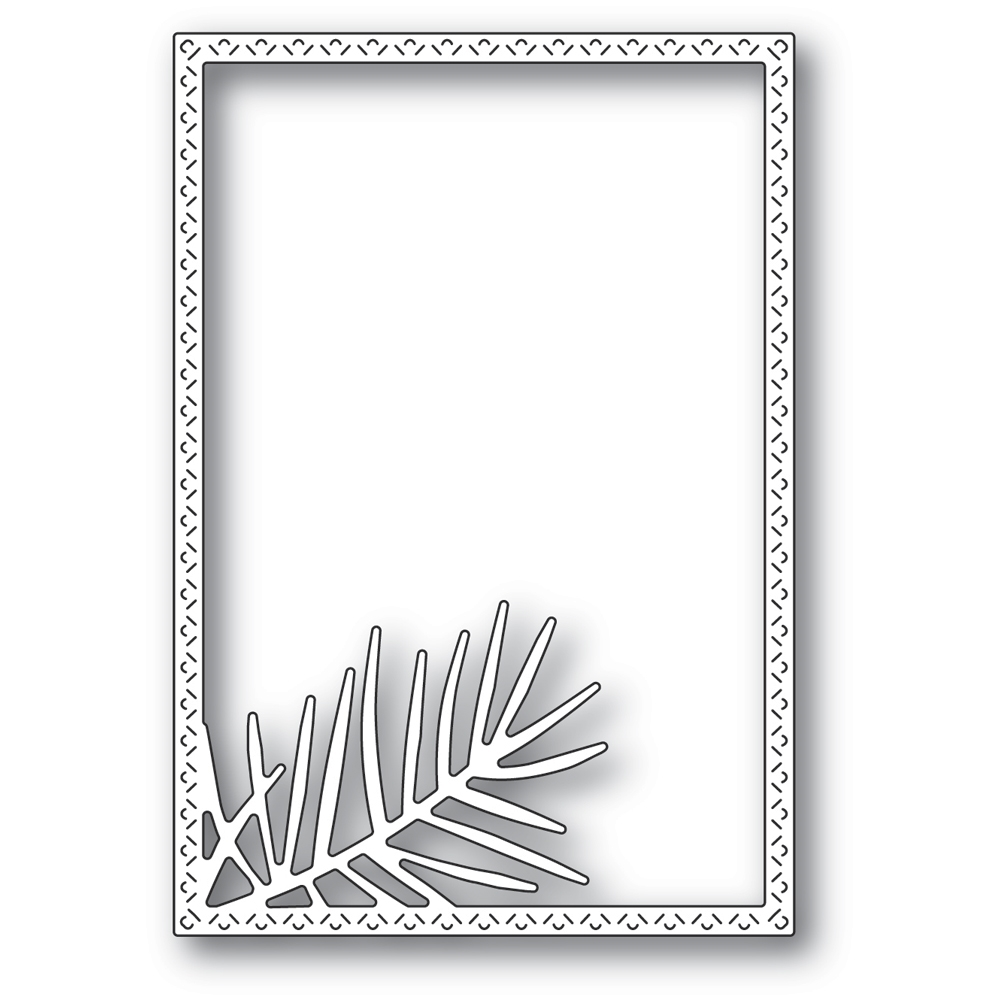 Memory Box POINTED PINE NEEDLE FRAME Craft Die 94483 zoom image