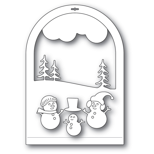 Memory Box SNOWMEN SNOWGLOBE Craft Dies 94492 Preview Image
