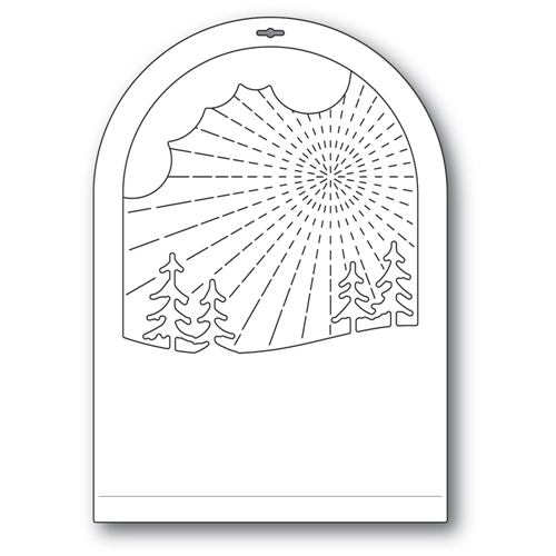 Memory Box RADIANT SNOWGLOBE Craft Dies 94493 Preview Image