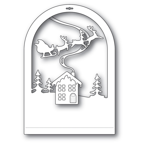 Memory Box CABIN SNOWGLOBE Craft Dies 94494 Preview Image