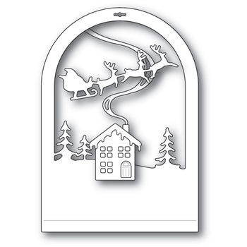 Memory Box CABIN SNOWGLOBE Craft Dies 94494