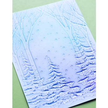 Memory Box SNOWY FOREST 3D Embossing Folder ef1010
