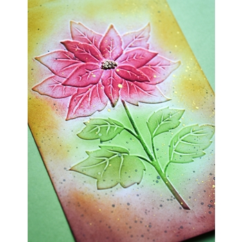 Memory Box MAGNIFICENT POINSETTIA 3D Embossing Folder ef1011