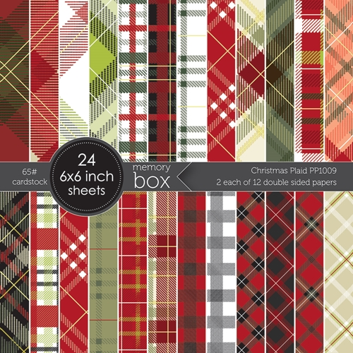 Memory Box CHRISTMAS PLAID 6x6 Paper Pack pp1009 Preview Image