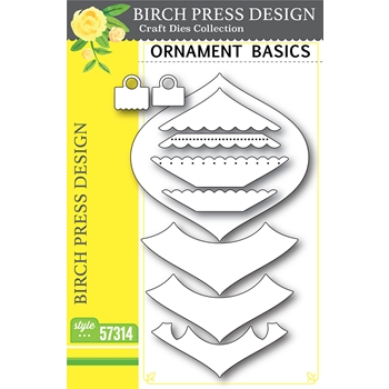 RESERVE Birch Press Design ORNAMENT BASICS Craft Dies 57314