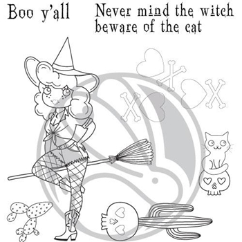 The Rabbit Hole Designs COUNTRY WITCH Clear Stamps TRH-68